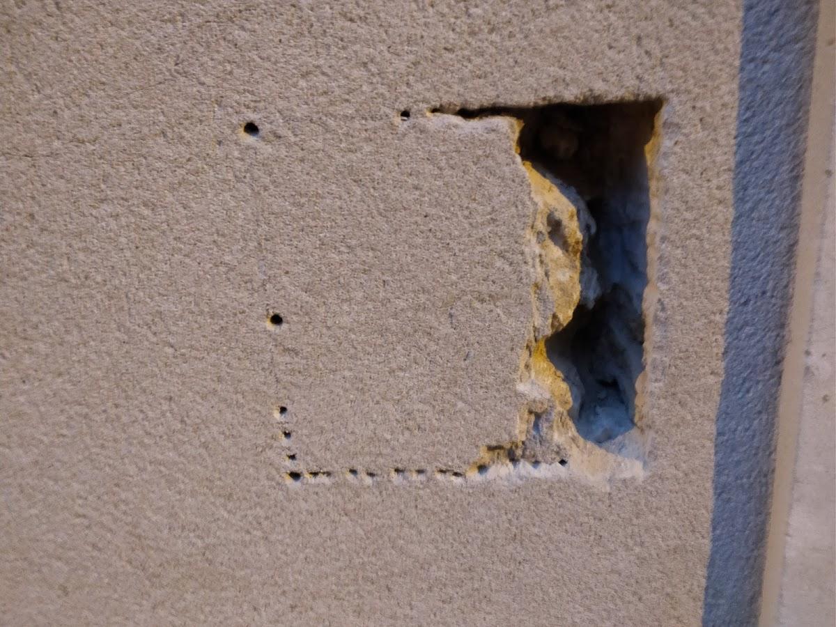 insertion d une boite aux lettres dans l paisseur du mur d une mancelle brico info le blog. Black Bedroom Furniture Sets. Home Design Ideas