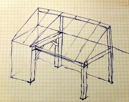 conception et montage d un appentis de jardin brico info le blog de bruno catteau. Black Bedroom Furniture Sets. Home Design Ideas