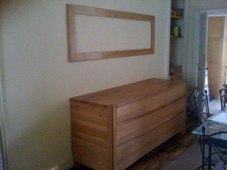 r alisation de l encadrement d un miroir ch ne massif finition nature brico info le blog. Black Bedroom Furniture Sets. Home Design Ideas