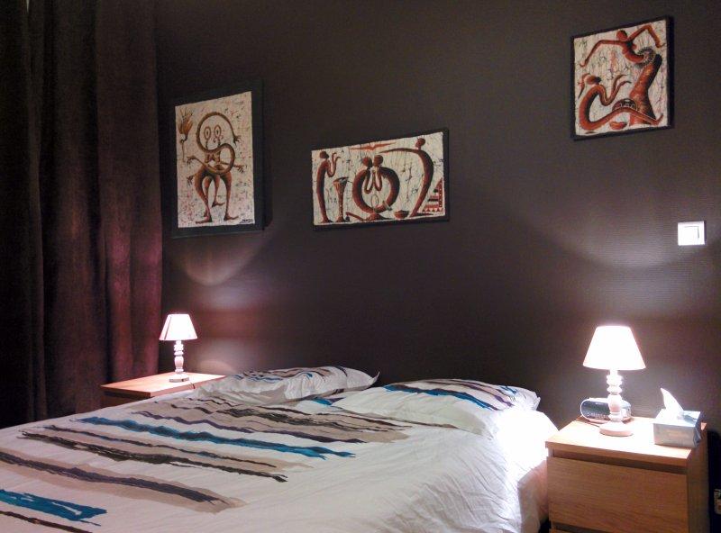 les rideaux cest leroy merlin teinte chocolat brun 1 donc en harmonie avec le mur chocolat - Mur Chambre Chocolat