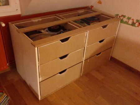 Fabrication d une commode en m dium brico info le blog - Comment faire un couvre lit matelasse ...
