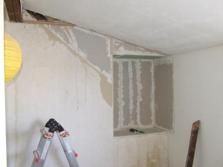 cr ation d une niche placard dans une chambre sous comble brico info le blog de bruno catteau. Black Bedroom Furniture Sets. Home Design Ideas