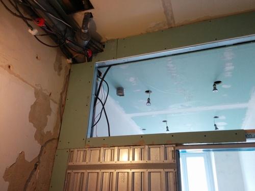 salle de bain du premier faux plafond et porte coulissante brico info le blog de bruno catteau. Black Bedroom Furniture Sets. Home Design Ideas