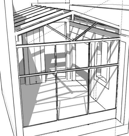 Projet v randa construction du projet brico info le for Extension maison 3 murs