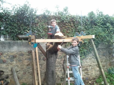 construction d une cabane dans un arbre tape 1 sur 3 la plate forme brico info le blog. Black Bedroom Furniture Sets. Home Design Ideas