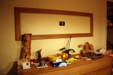 R alisation de l encadrement d un miroir ch ne massif for Miroir au dessus du lit