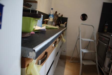 projet cuisine 7 plan de travail en ardoise brico info le blog de bruno catteau. Black Bedroom Furniture Sets. Home Design Ideas
